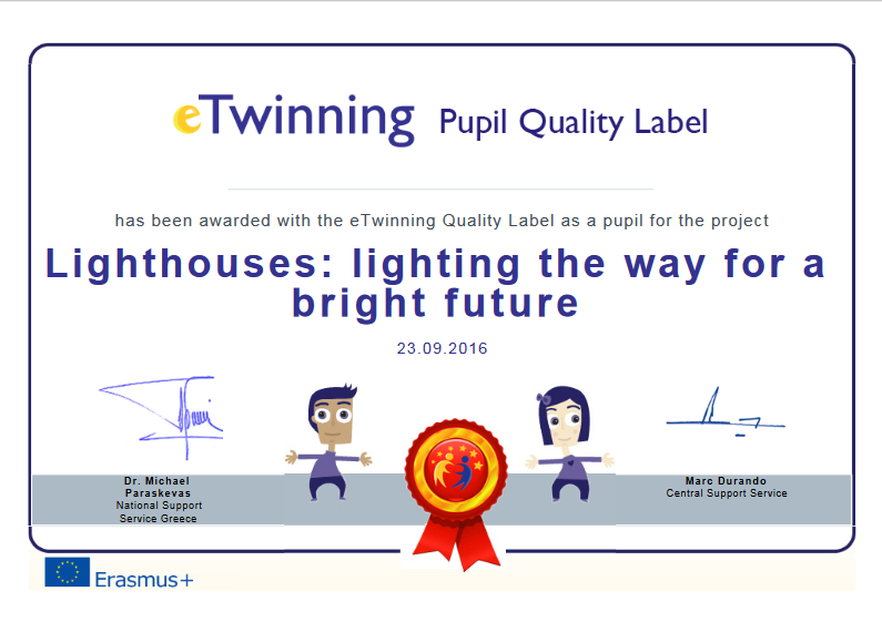 Lighthouse quality label pupil
