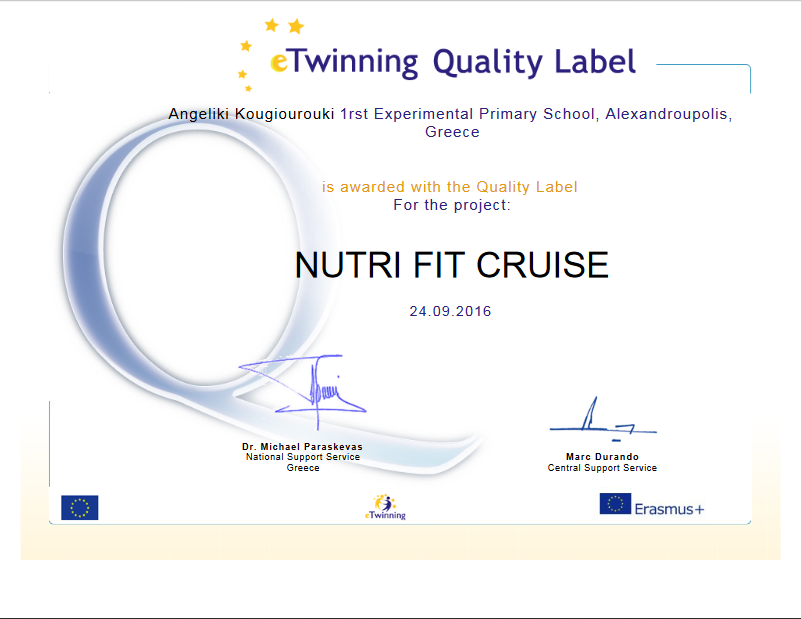 Nutri fit quality label teacher